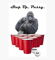 Harambe Beer Pong Step Up Photographic Print