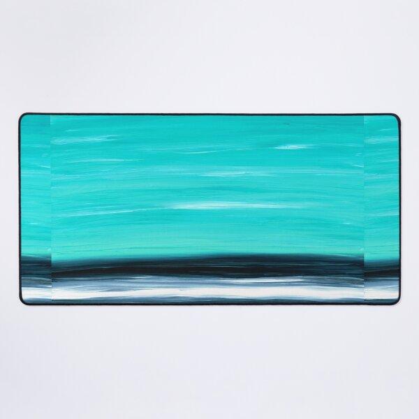 Aqua Sky - Bold Abstract Landscape Art Desk Mat