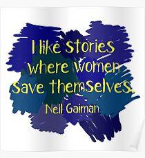 Neil Gaiman (feminist at heart) Dark Poster