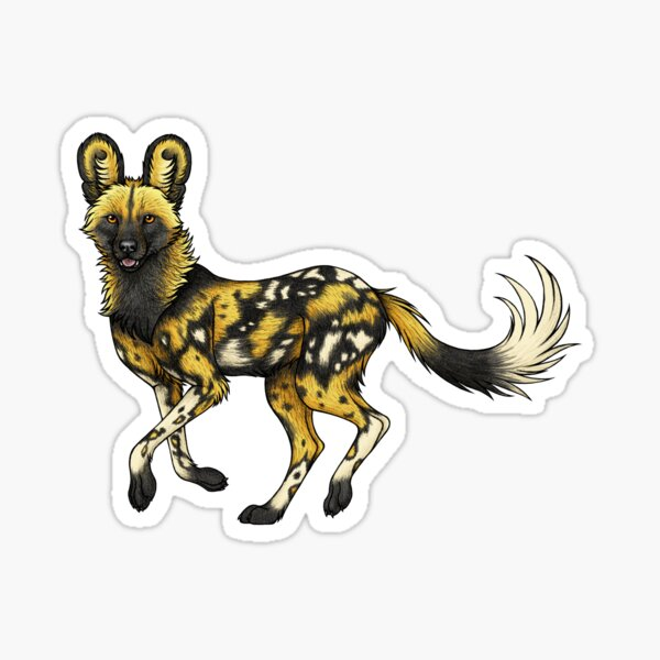 Painted Dogs Sticker