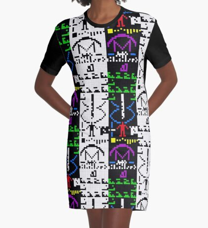 The Arecibo Message 003 Graphic T-Shirt Dress