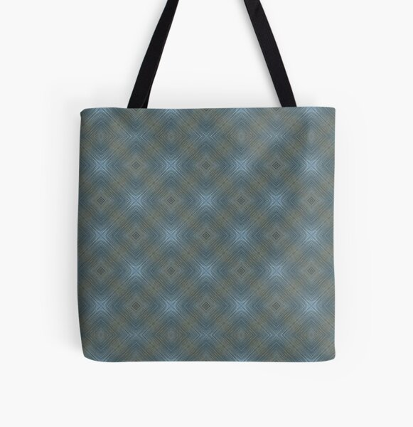 Soft Blue Pattern All Over Print Tote Bag