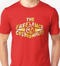 The Freelance Cosmonauts- Logo (Gold w/red) Unisex T-Shirt