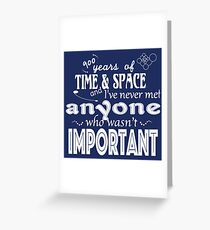 900 Years of Time and Space Greeting Card