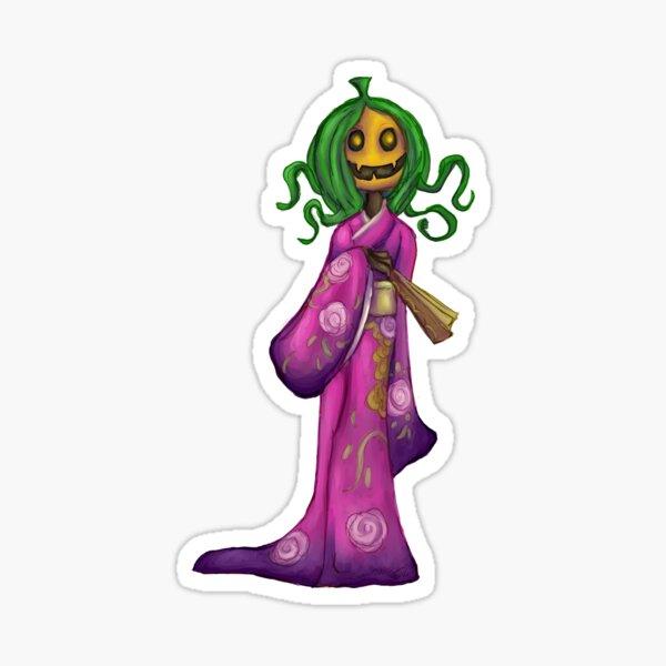 Bird Seed: Kimono Monster Pumpkin Sticker