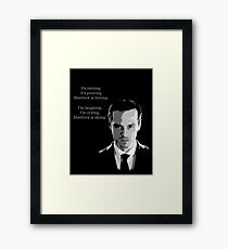 Sherlock Holmes Moriarty  Framed Print