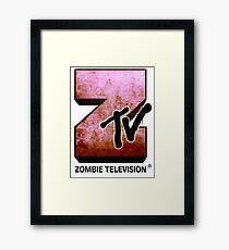 Zombie TV Framed Print