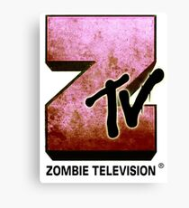 Zombie TV Canvas Print
