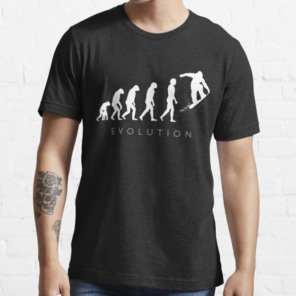 Evolution Of The Snowboarder Essential T-Shirt