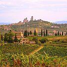 Approaching San Gimignano.................................Tuscany by Fara