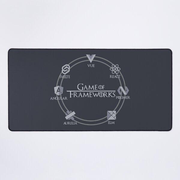 Game of Frameworks Rings Desk Mat