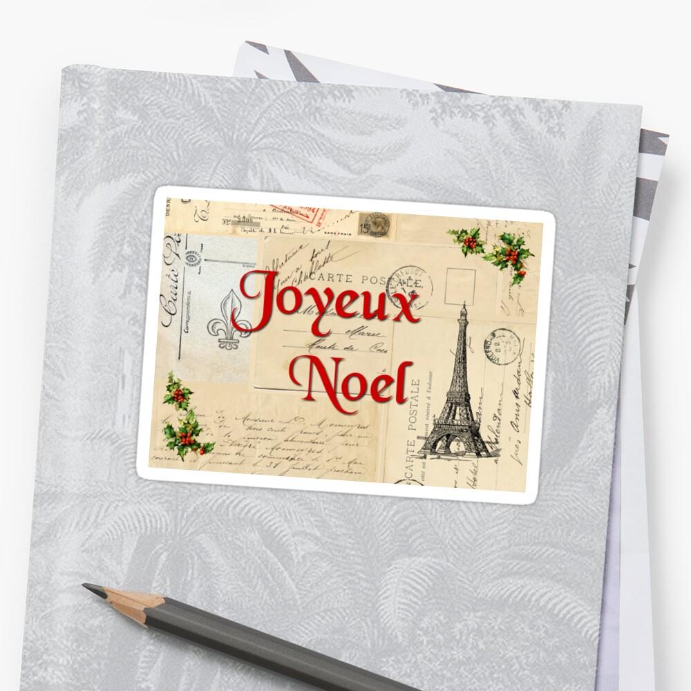 Paris Joyeux Noel Vintage Christmas by 13Moons