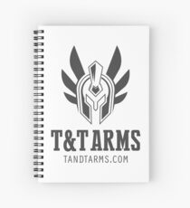 Black vertical logo Spiral Notebook
