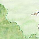 Robin and Grey Heron by pokegirl93