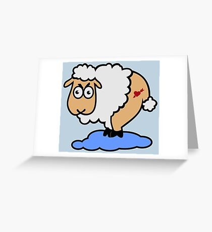 Sexy Sheep in Sheep heaven VRS2 Greeting Card