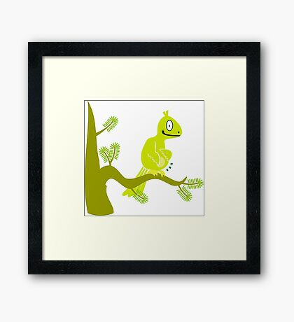 Dessert Bird in a Palm Tree VRS2 Framed Print