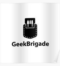 Geek Brigade pocket protector icon Poster