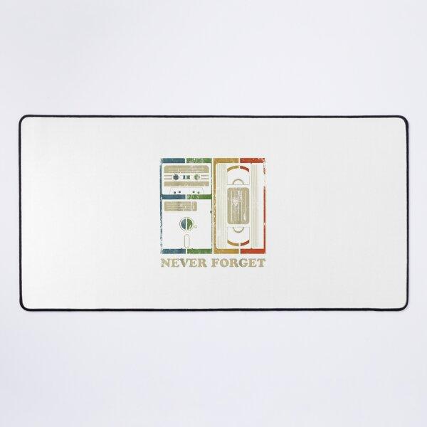 Never forget retro vintage cassette tape graphic novelty mens Desk Mat