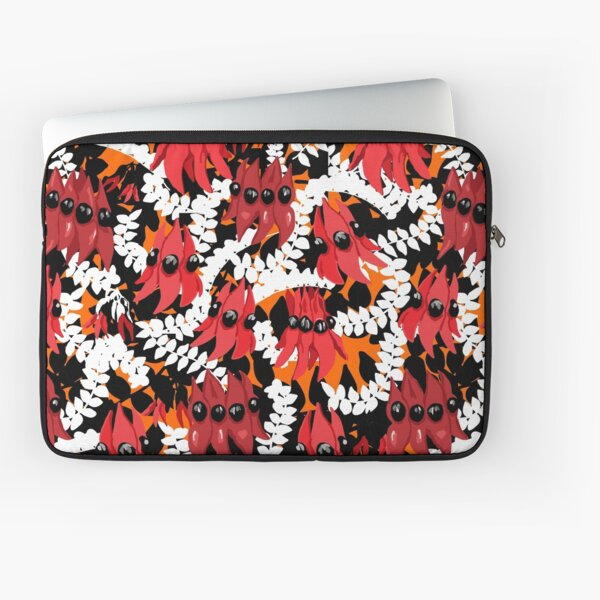 Vibrant Sturt Desert Pea pattern Laptop Sleeve