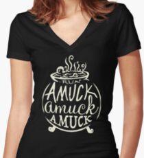 HOCUS POCUS Women's Fitted V-Neck T-Shirt