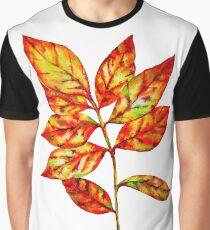 watercolor colourful autumn leaf Graphic T-Shirt