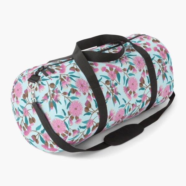 Australian Gum Flowers Pink pattern Duffle Bag