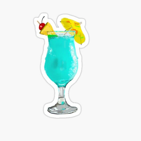 Blue Hawaiian cocktail  Sticker