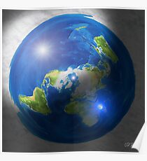 Gleason Flache Erde Karte.Flache Erde Poster Redbubble