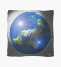 Flat Earth with Sun, Moon & Polaris Scarf