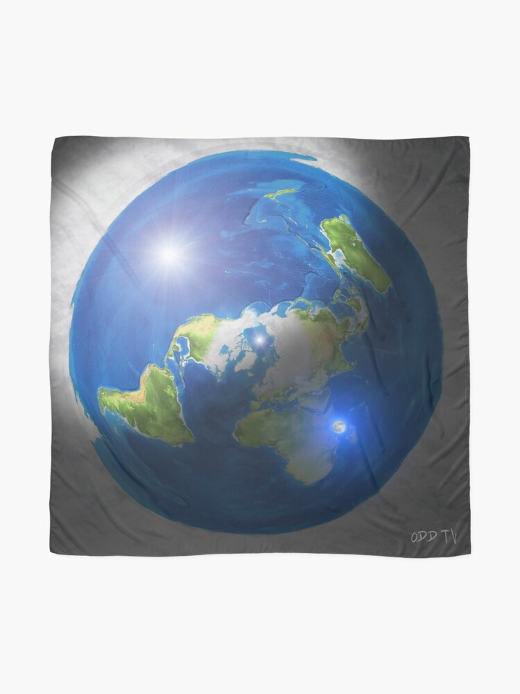 Alternate view of Flat Earth with Sun, Moon & Polaris Scarf