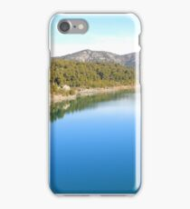 Mountain landscape with blue river, in Provence, France iPhone Case/Skin