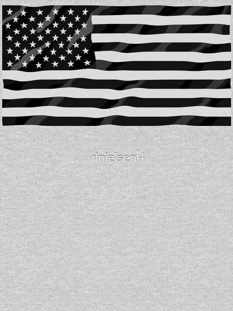 Bandera americana blanco y negro de rlnielsen4