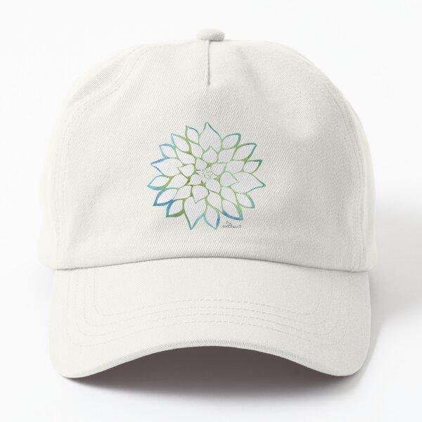 White Succulent Dad Hat