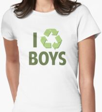 I Recycle Boys Womens Fitted T-Shirt