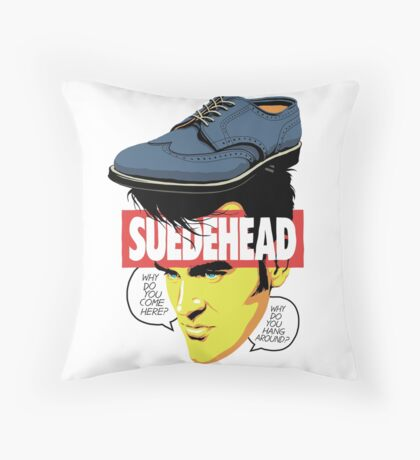 Suede Head Throw Pillow