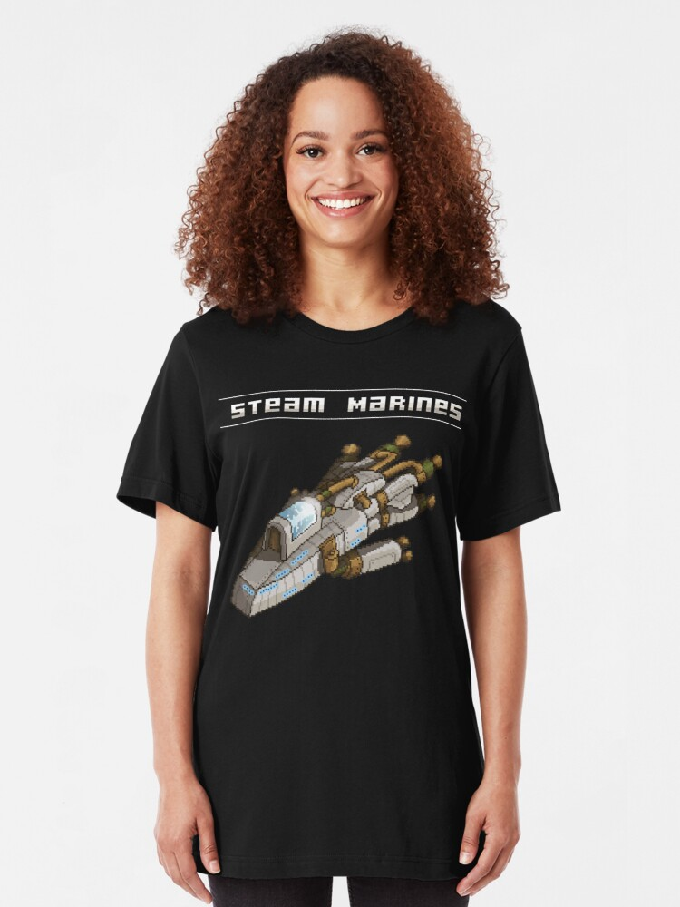 Alternate view of Steam Marines - Transparent Logo Slim Fit T-Shirt