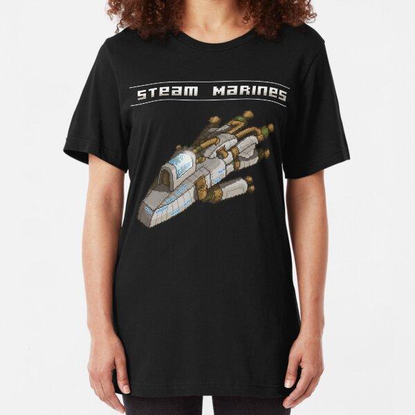 Steam Marines - Transparent Logo Slim Fit T-Shirt