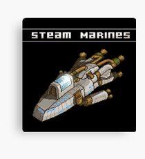 Steam Marines - Transparent Logo Canvas Print