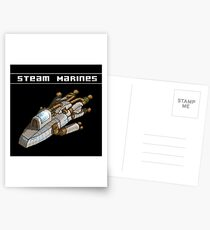 Steam Marines - Transparent Logo Postcards
