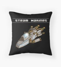 Steam Marines - Transparent Logo Throw Pillow