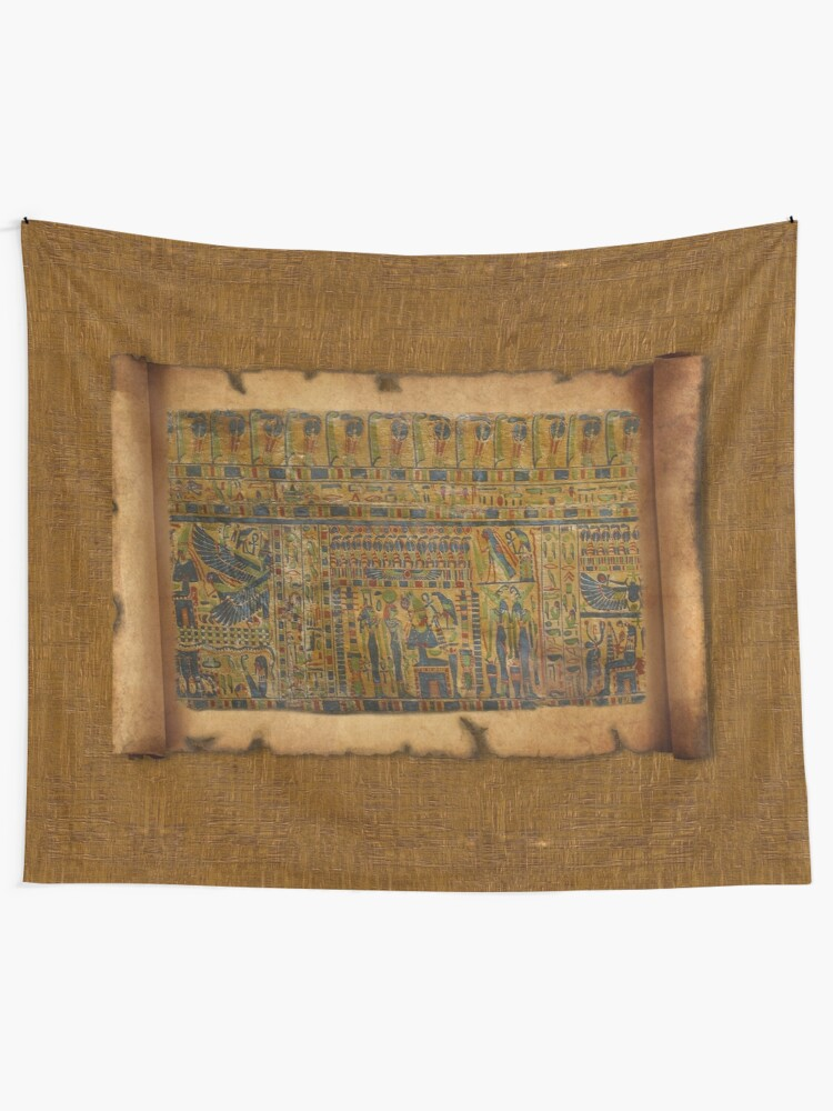 Ancient Egyptian Funerary Scroll pre 944 BC | Wall Tapestry