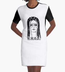 W.W.G.D.?: WHAT WOULD GLORIA DO? Graphic T-Shirt Dress