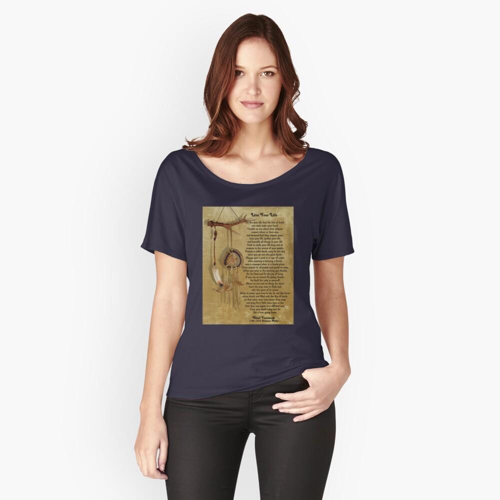 """""""Lebe dein Leben"""" von Chief Tecumseh Traumfänger Loose Fit T-Shirt"""