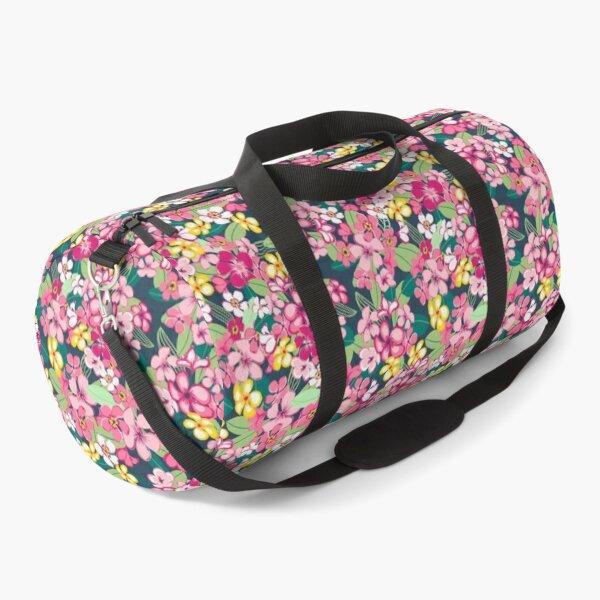 Vibrant tropical print hawaiian vibe pattern Duffle Bag