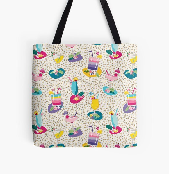 Cocktails, summer drinks, fruity alcoholic beverages, party drink pattern All Over Print Tote Bag
