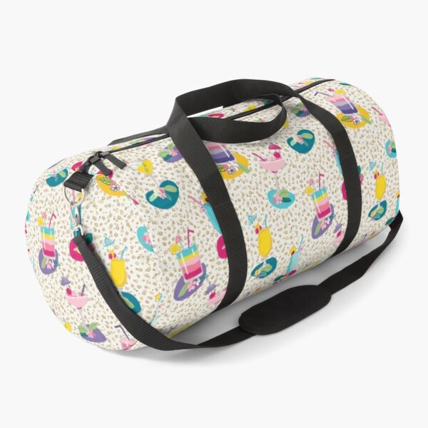 Cocktails, summer drinks, fruity alcoholic beverages, party drink pattern Duffle Bag