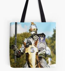 jousting knight Tote Bag