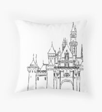 Aesthetic Sleepy Castle Throw Pillow
