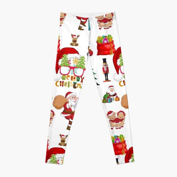 santa sack suit - merry christmas 2021 Leggings