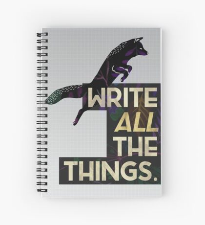Write ALL The Things—Grid Fox Version Spiral Notebook